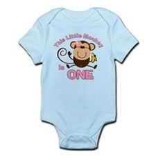 Little Monkey 1st Birthday Girl Infant Bodysuit