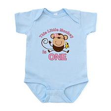 Little Monkey 1st Birthday Girl Onesie