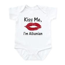 Kiss Me, I'm Albanian Infant Creeper