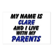 my name is clare and I live with my parents Postca