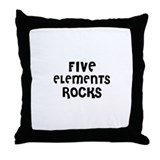 FIVE ELEMENTS  ROCKS Throw Pillow