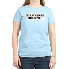 Rather be Reading Women's Pink T-Shirt