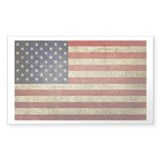 Antique Flag Rectangle Bumper Stickers