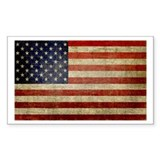 Antique Flag Rectangle Decal