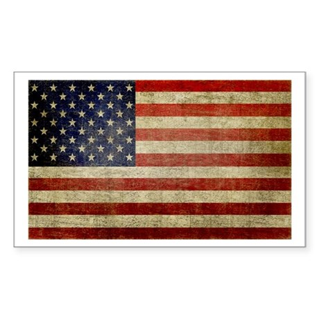 Antique Flag Rectangle Sticker