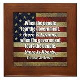 Jefferson: Liberty vs. Tyranny Framed Tile
