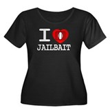 I heart jailbait Women's Plus Size Scoop Neck Dark