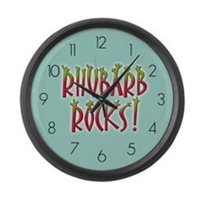 Rhubarb Rocks Large Wall Clock