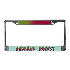 Rhubarb Rocks License Plate Frame