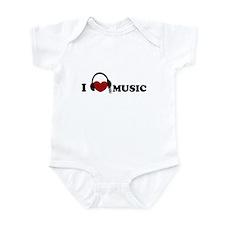 I Love Music Infant Bodysuit
