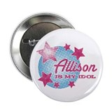 "Halftone Idol Allison 2.25"" Button"