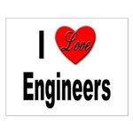 I Love Engineers Small Poster