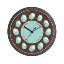 Robin Eggs Wall Clock