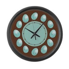 Robin Eggs Large Wall Clock