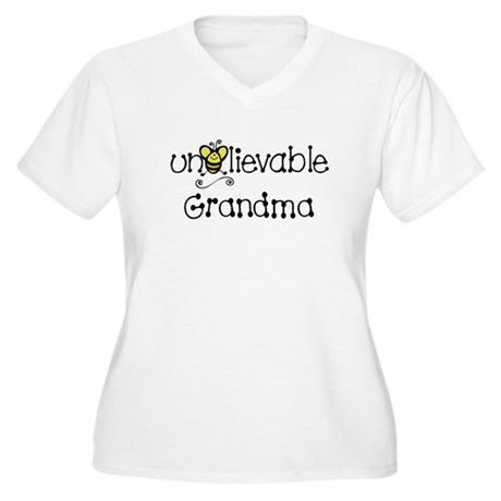 Unbelievable Grandma Women's Plus Size V-Neck T-Sh