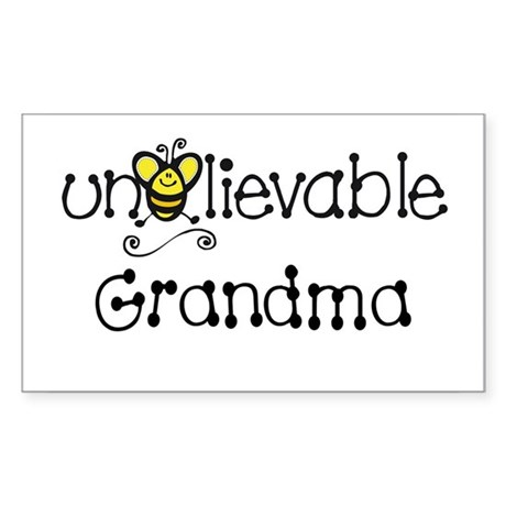 Unbelievable Grandma Rectangle Sticker
