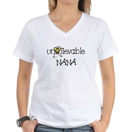 Unbelievable Nana Women's V-Neck T-Shirt