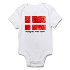 Rodgrod med flode Infant Bodysuit