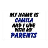 my name is camila and I live with my parents Postc