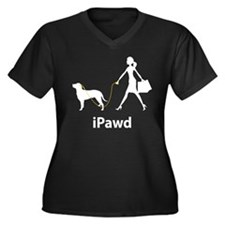 Curly-Coated Retriever Women's Plus Size V-Neck Da