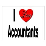 I Love Accountants Small Poster