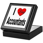 I Love Accountants Keepsake Box