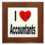 I Love Accountants Framed Tile