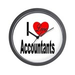 I Love Accountants Wall Clock