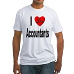 I Love Accountants (Front) Fitted T-Shirt
