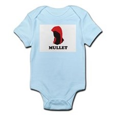 MULLET RETRO T SHIRT A SILHOU Infant Creeper