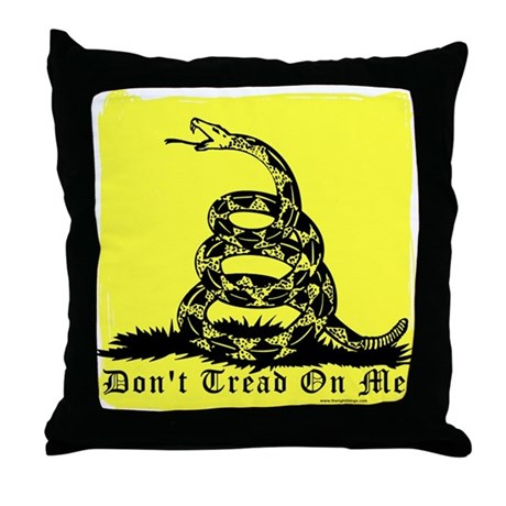 Don't Tread On Me Gadsden Throw Pillow