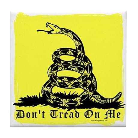 Don't Tread On Me Gadsden Tile Coaster