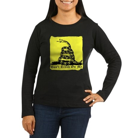 Don't Tread On Me Gadsden Women's Long Sleeve Dark