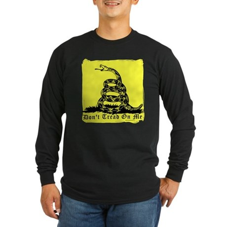Don't Tread On Me Gadsden Long Sleeve Dark T-Shirt