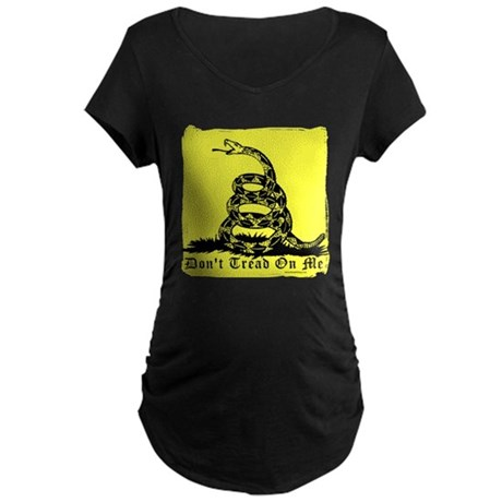 Don't Tread On Me Gadsden Maternity Dark T-Shirt