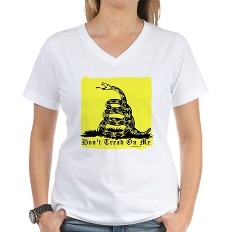 Don't Tread On Me Gadsden Women's V-Neck T-Shirt