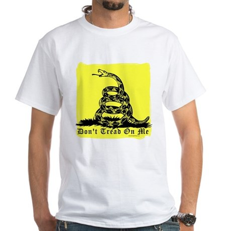 Don't Tread On Me Gadsden White T-Shirt