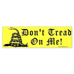 Don't Tread On Me Gadsden Bumper Sticker (10 pk)