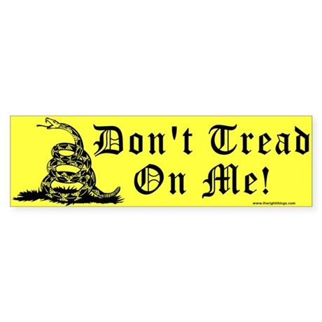 Don't Tread On Me Gadsden Bumper Sticker
