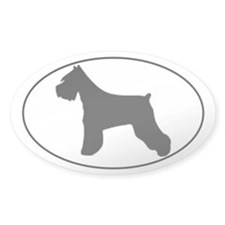Miniature Schnauzer silhouette - Oval Decal