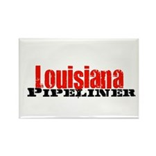 Louisiana Pipeliner Rectangle Magnet