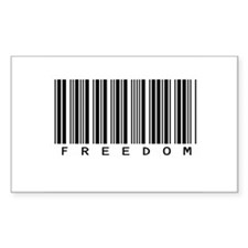 Freedom Barcode Rectangle Decal