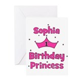 1st Birthday Princess Sophia! Greeting Cards (Pk o