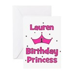 1st Birthday Princess Lauren! Greeting Card