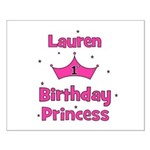 1st Birthday Princess Lauren! Small Poster