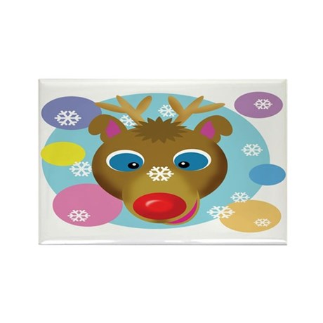 Reindeer Rectangle Magnet