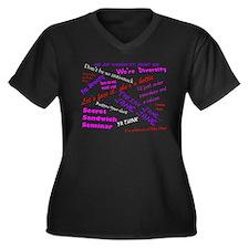 Olivia Quotes Women's Pls Sz V-Neck Blk T-Shirt