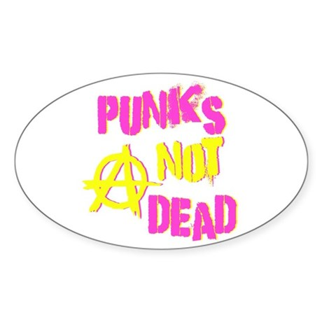 Punks Not Dead Oval Sticker