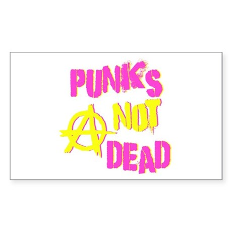 Punks Not Dead Rectangle Sticker