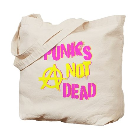 Punks Not Dead Tote Bag